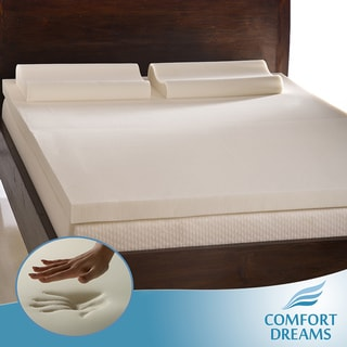 Comfort Dreams 3-inch Queen/ King-size Memory Foam Mattress Topper/ Contour Pillow Set