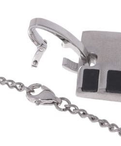 Stainless Steel and Rubber Pendant