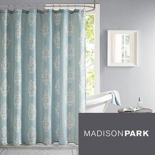 Madison Park Kensington Texture Printed Shower Curtain - 3 Color Option