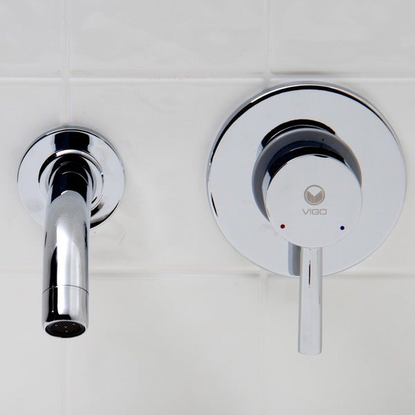 VIGO Olus Chrome Finish Single Lever Wall Mount Faucet