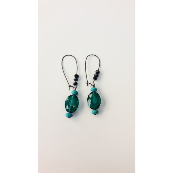Womans Fashion Gemstone and Glass Earrings 31297421