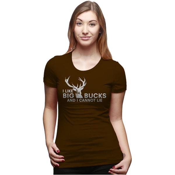 Womens I Like Big Bucks and I Cannot Lie Funny Deer Hunting T shirts for Ladies 31301820