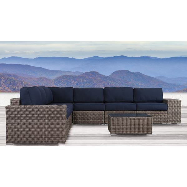 Living Source International Antibes 10-piece Sectional Set with Cup Holders and Sunbrella Cushions 31304588