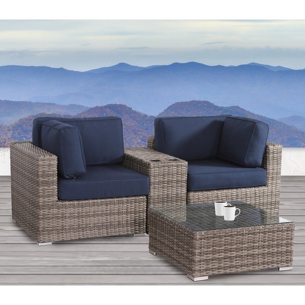 4 Piece Cup Table Loveseat Set 31305647