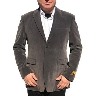 Single Breasted 2-Button Blazer In Grey with Notch Lapel 31305999