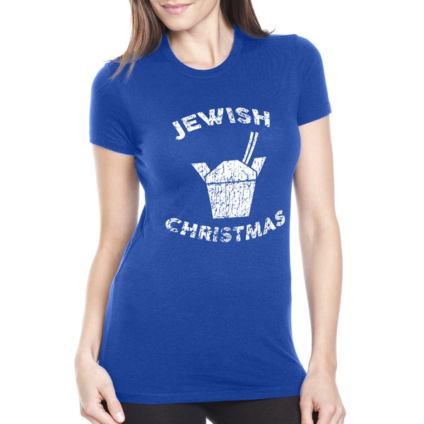 Womens Jewish Christmas Funny Chinese Take Out T shirt 31309776