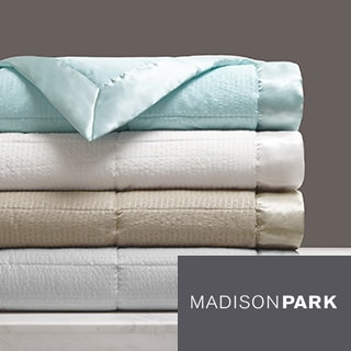 Madison Park Parkman Premium Oversized Down Alternative Blanket with 3M Scotchgard 4-Color Option