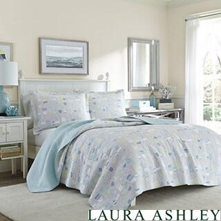Laura Ashley Bridgets Buoy Cotton Reversible Quilt Set
