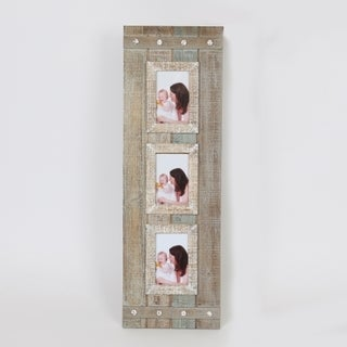 """Rustic Three 4"""" x 6"""" Collage Picture Frame"""