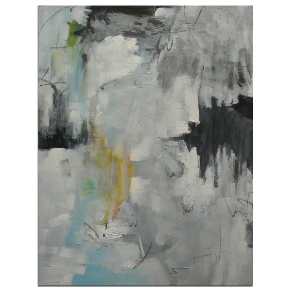 Original Modern Oil-On-Canvas 24-inch x 36-inch Abstract Wall Art 31338321