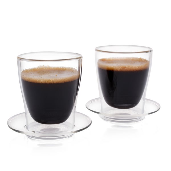 Epare Espresso Cups, Insulated Glass Demitasse Lid & Saucer (Set of 2) 31338778