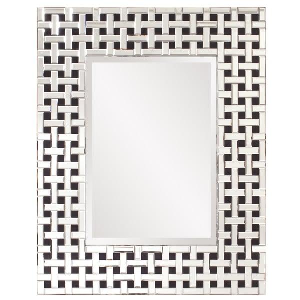 Howard Elliot Collection Allan Andrews Colton Glass/Wood  Modern Mirror 31338826