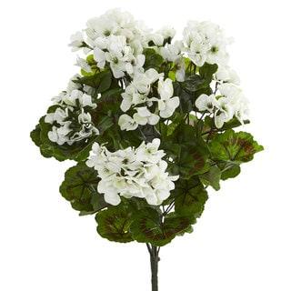 Geranium Artificial Bush UV Resistant (Set of 3)