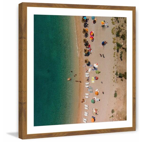 'Beach Lineup' Framed Painting Print 31350413