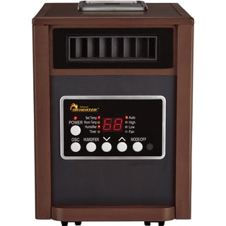 Dr Infrared Heater DR-998, with Humidifier, Oscillation Fan, Walnut