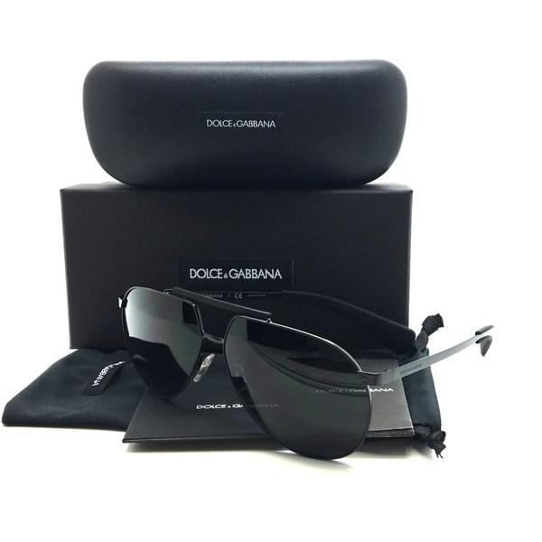 Dolce & Gabbana Black Sunglasses DG 2152 01 87 3N 61 mm Designer  Aviator 31365762