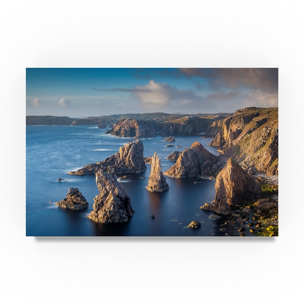 Michael Blanchette Photography 'Stacks at Sea' Canvas Art 31382071