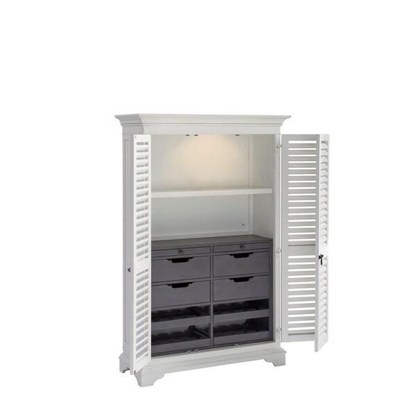 Paula Deen Bungalow Oleander White The Liquor Locker Bar Cabinet