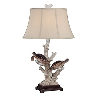 "Seahaven Twin Turtle Night Light Table Lamp 33"" high"