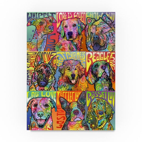 Dean Russo 'Nine Up Of Dogs' Canvas Art 31389050