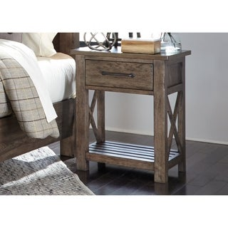 Sonoma Road Weather Beaten Bark 1-drawer Night Stand