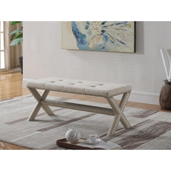 Best Master Furniture 622 Upholstered Accent Bench 31432354