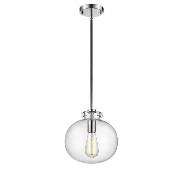 Sphere Chrome Clear Glass Globe Pendant Light 31448504