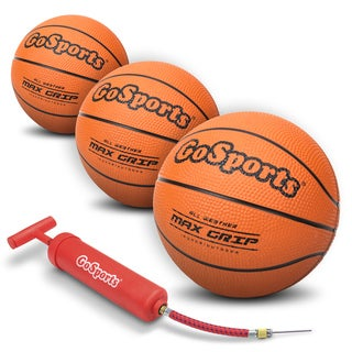 GoSports Mini Basketball 3 Pack with Premium Pump - Perfect for Mini Hoops