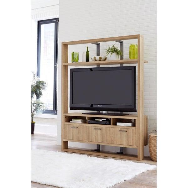 Martin Svensson Home Market Street Entertainment Center Wall Unit, White Oak 31475375