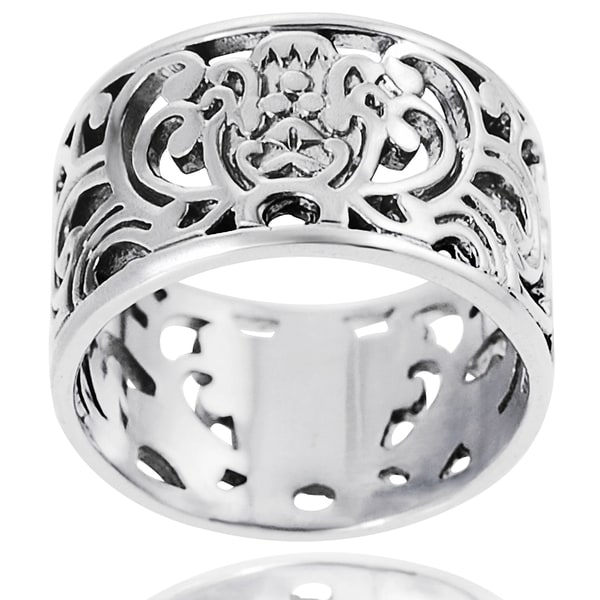 Journee Sterling Silver Filigree Ring
