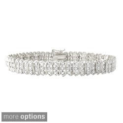 DB Designs Sterling Silver 1/8ct TW Diamond Tennis Bracelet (I-J, I3)