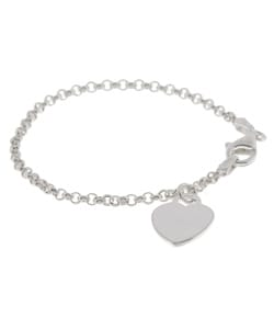 Journee Sterling Silver Heart Style Children's Bracelet