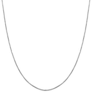 Fremada 14k White Gold Box Necklace (16 inches to 30 inch)