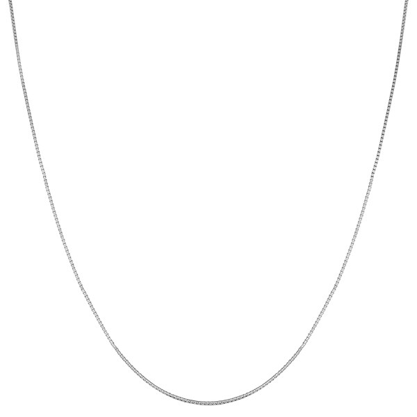24-inch Box Necklace Made from 14-karat White Gold with Spring Clasps