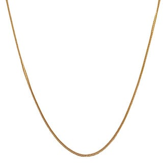 Fremada 14k Yellow Gold Silk Foxtail Necklace (16 - 24 inch)
