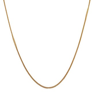14k Yellow Gold Silk Foxtail Necklace (16 - 24 inch)