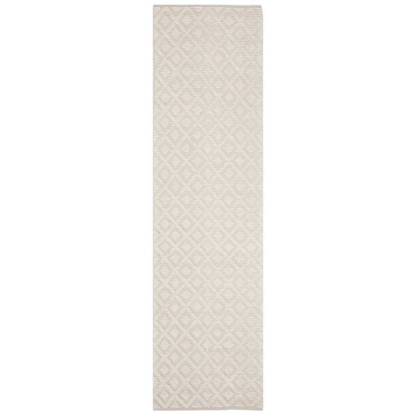 Safavieh Hand-Woven Vermont Ivory Cotton Rug (2'3 x 8') - 2'3 x 8' 31518596