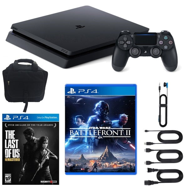 PlayStation 4 Slim Star Wars Battlefront 2 1TB LE Core Console, Last of Us Remastered and  Accessories 31521006