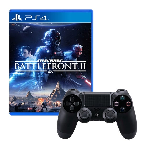 Dualshock 4 Wireless Controller With Star Wars Battlefront 2 Game 31521008