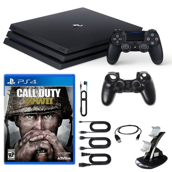 PlayStation 4 Pro Console COD WWII and Accessories 31521025