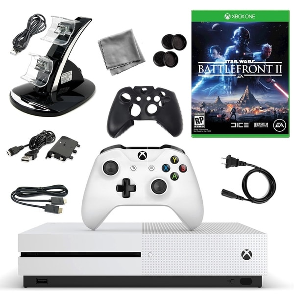 XBox One S 500GB Console with Star Wars Battlefont 2 10 in 1 Accessories 31521537