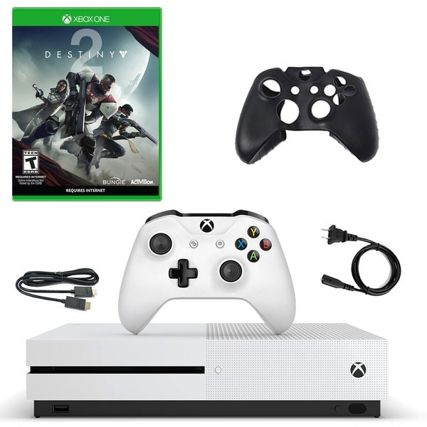 XBox One S 500GB Console with Distiny 2 and Silicone Sleeve 31521539