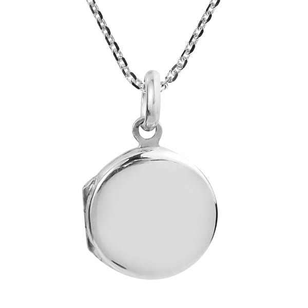 Cute Plain Round Locket Sterling Silver Necklace (Thailand) 31529291