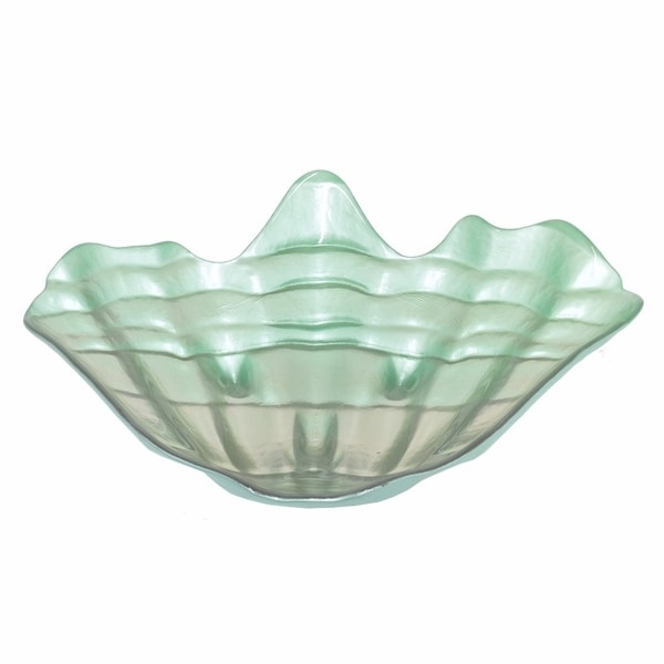 Appealing Glass Votive Shell Plate, Large -Benzara 31529750