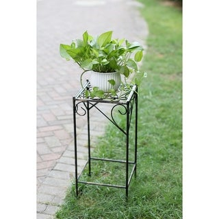 26 in.Large Celtic Clover Squre Cast Iron Plant Stand