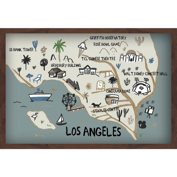 'Explore LA' Painting Print on Canvas with Shadow Box 31534205