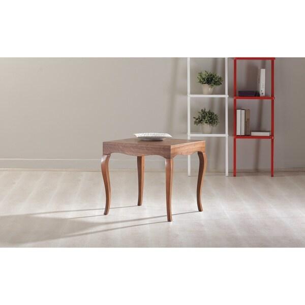 Victor Matte Walnut Finish Side Table 31571919