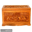 Hand-etched 'Trees' Coffee Table Chest