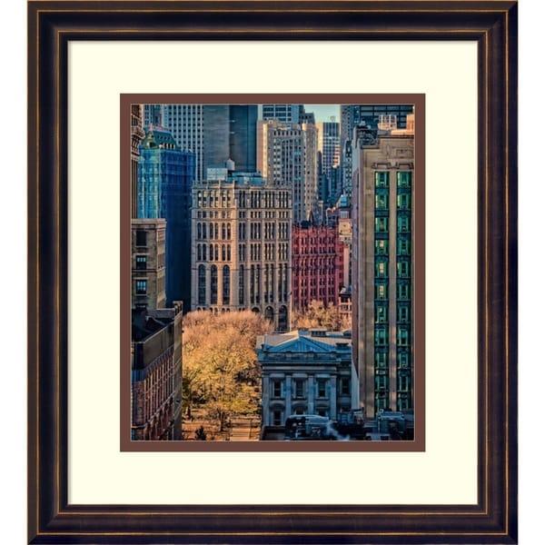 Framed Art Print 'City Life' by Liyun Yu 31607240