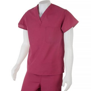 Medline Unisex Reversible Raspberry Scrub Top